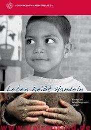 Leben heißt handeln - Govinda Entwicklungshilfe e.V.