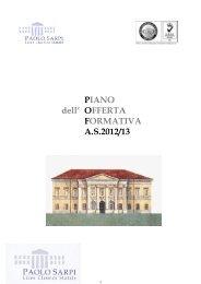 Pof 2012-13 parte comune - Liceo Classico Statale