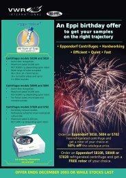 An Eppi birthday offer - VWR - VWR International