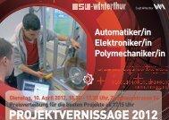 PROJEKTVERNISSAGE 2012 - msw-winterthur