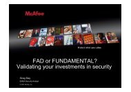 FAD or FUNDAMENTAL? Validating your investments in security