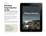 BDN Maine/ Bangor Daily News for iPad