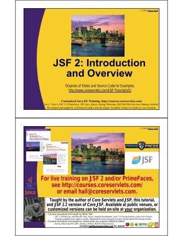 JSF 2.0: Introduction and Overview - Custom Training Courses ...