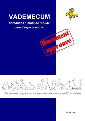 VADEMECUM BELGE accessibilite ESPACE PUBLIC de la ... - cfpsaa
