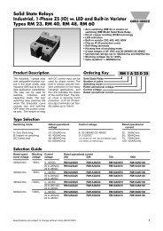 RM Series Solid State Relays Spec Sheet - Durex Industries