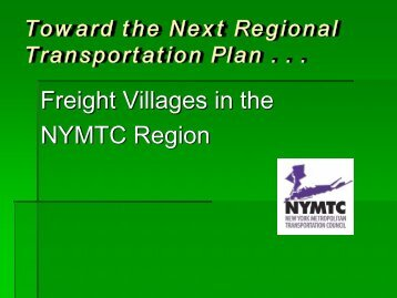 Freight Villages in the NYMTC Region