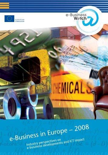 e-Business in Europe – 2008 - empirica