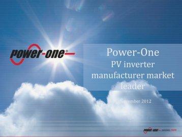 Power-One - Corrente