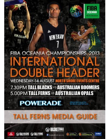 2013 Tall Ferns Media Guide - Basketball New Zealand