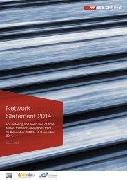 SBB Network Statement 2014 - Trasse Schweiz AG