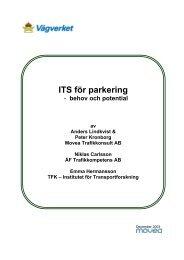 ITS för parkering - behov och potential - Movea Trafikkonsult AB
