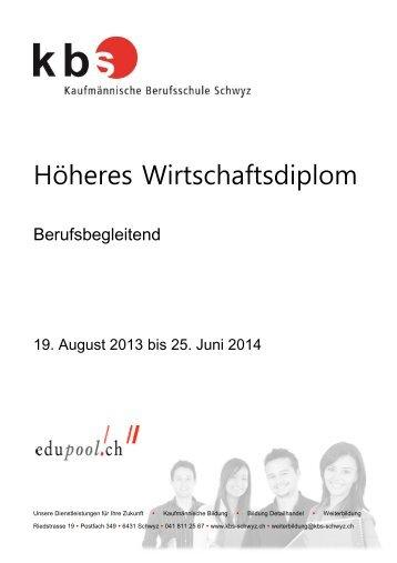 Höheres Wirtschaftsdiplom - Kaufmännische Berufsschule Schwyz