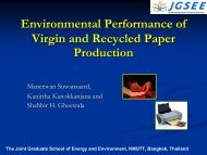 Environmental Performance of Virgin and Recycled Paper Production