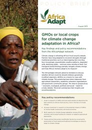 GMOs or local crops for climate change adaptation in ... - Africa Adapt