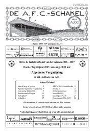 18 juni 2007, 85e jaargang nummer 14 - AFC, Amsterdam