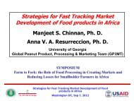 Strategies for Fast Tracking Market Development of Food products in ...