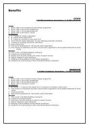 Benefits - Accademia Nazionale di Santa Cecilia