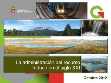 Agua 2012 Oct Adm del recurso hidrico