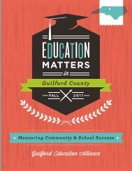 MATTERS - Guilford Education Alliance
