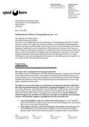 Medienmitteilung zur Konsultation Versorgungsplanung ... - vpod Bern