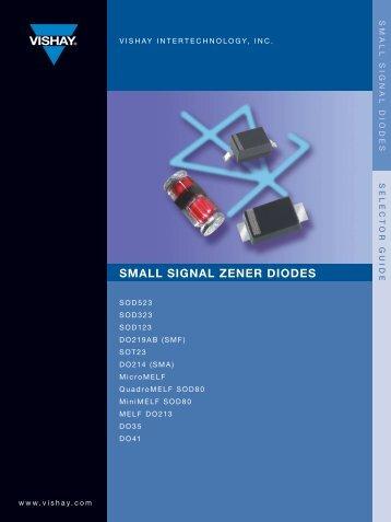 Zener Selection Guide - TTI Inc.