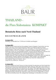 THAILAND - die Flora Südostasiens KOMPAKT - Baur Gartenreisen