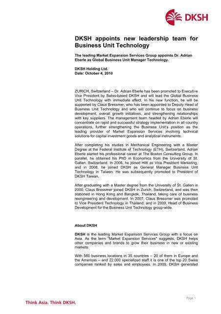 DKSH Press Release