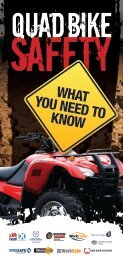 Quad bike safety - What you need to know (brochure)