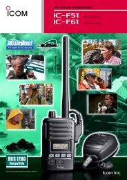 VHF AND UHF TRANSCEIVERS - Communications Specialists Ltd