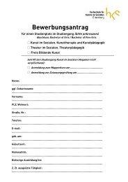 Bewerbungsantrag B.A. - Hks Ottersberg