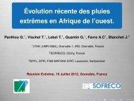 Évolution récente des pluies extrêmes en Afrique ... - Mistis - Grenoble
