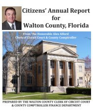 2012 Annual Citizens Report - Walton County Clerk of Court