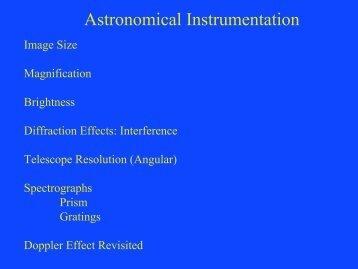 Astronomical Instrumentation