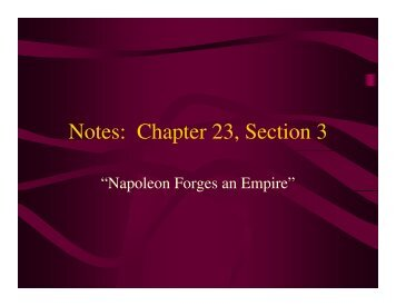 Notes: Chapter 23, Section 3 - Mona Shores Blogs