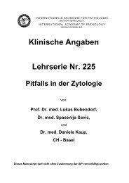Klinische Angaben Lehrserie Nr. 225 Pitfalls in der ... - Iap-bonn.de
