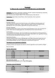 Protokoll 5. Sitzung des Jugendforums Bergkirchen am 06.05.2009