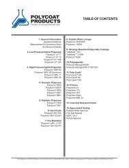 ^Polyurea Catalog (09-08).PMD - Polycoat Products