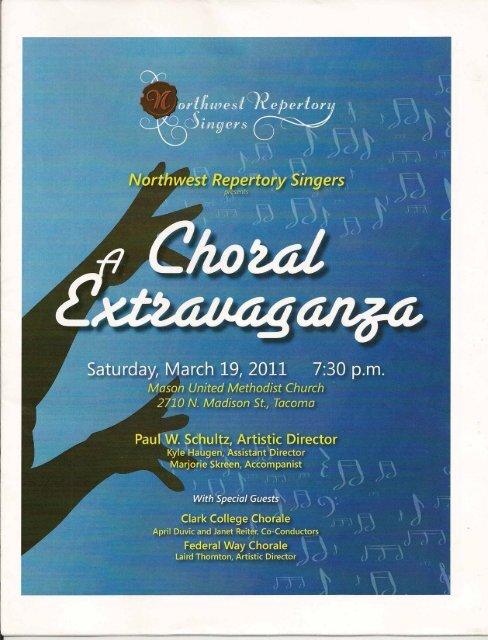 A Choral Extravaganza - Federal Way Chorale