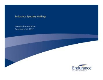 Endurance Specialty Holdings - Endurance Specialty Insurance Ltd.