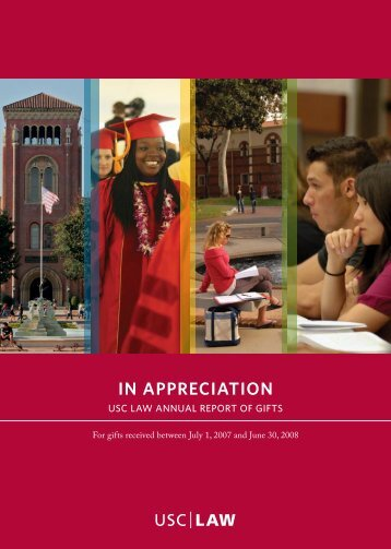 in appreciation - USC Gould School of Law - University of Southern ...