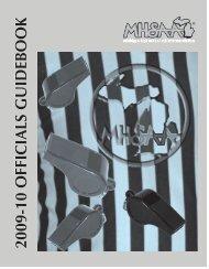 2009-10 Officials Guidebook - Michigan High School Athletic ...