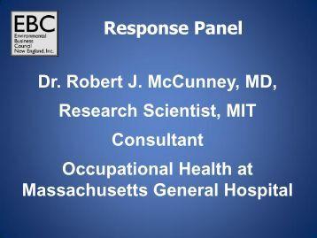 Robert McCunney, M.D. - Environmental Business Council of New ...