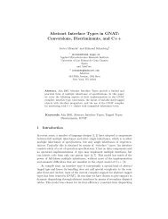 Abstract Interface Types in GNAT: Conversions, Discriminants, and ...