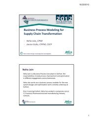 Business Process Modeling for Supply Chain Transformation - apics