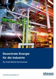 Dezentrale Energie für die Industrie - STEAG