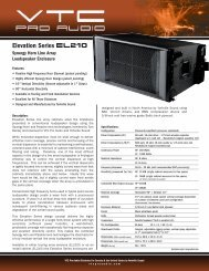 Specification Sheet - VTC Pro Audio