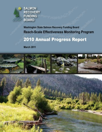 2010 Annual Progress Report - Washington State Recreation and ...