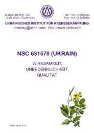 Wirksamkeit, Unbedenklichkeit und Qualität - Ukrainian Anti Cancer ...