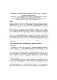 Probable sources of microbial contamination of stored ... - IWA