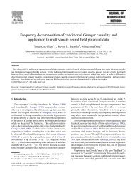 Frequency decomposition of conditional Granger causality - CiteSeer